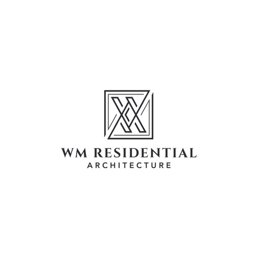 Creative Geo Logo For WM Residential Architecture