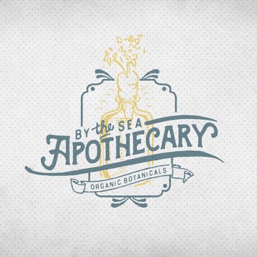 Logo for an organic botanical apothecary