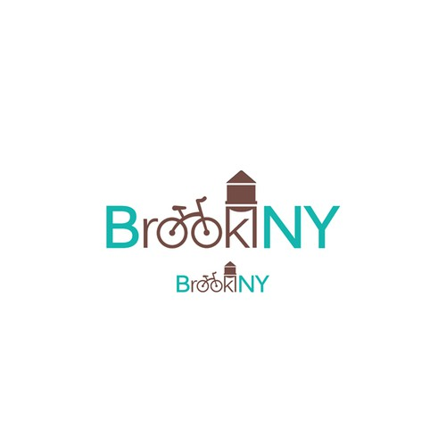 A logo for a Brooklyn souvenirs shop