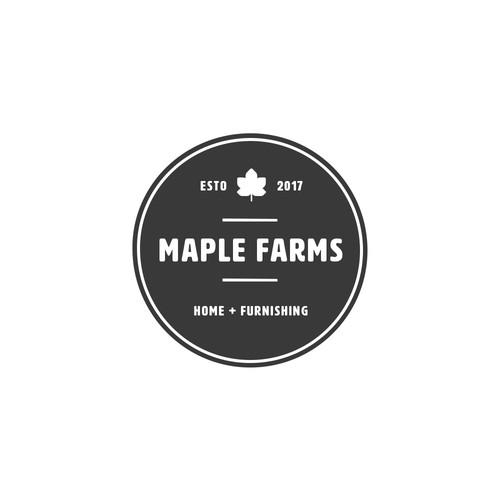 Maple Farms stamp logo