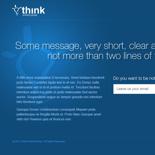 Website design for Think Product Group Ltd