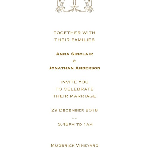 Refined wedding invitation