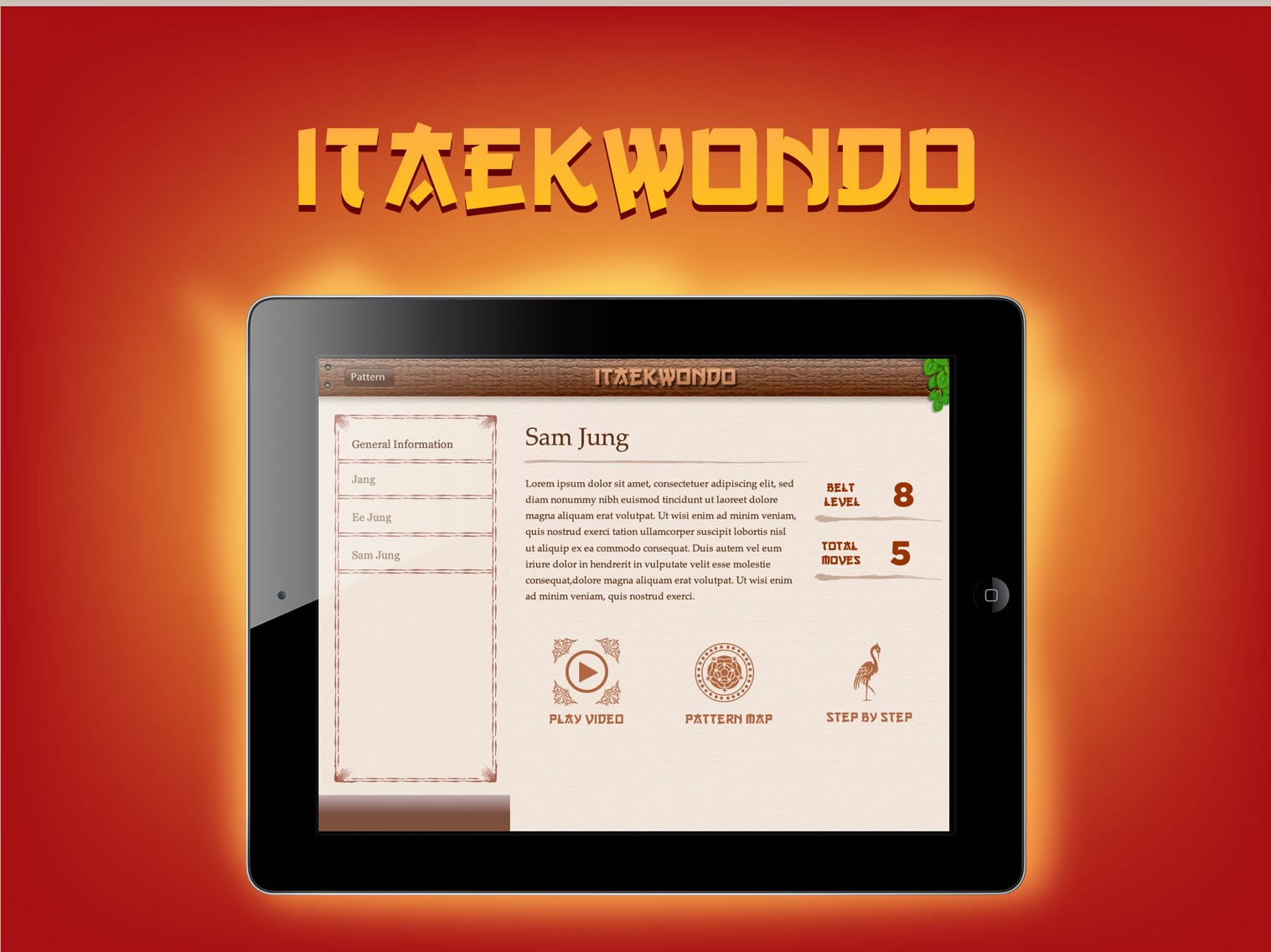 Taekwondo App Design