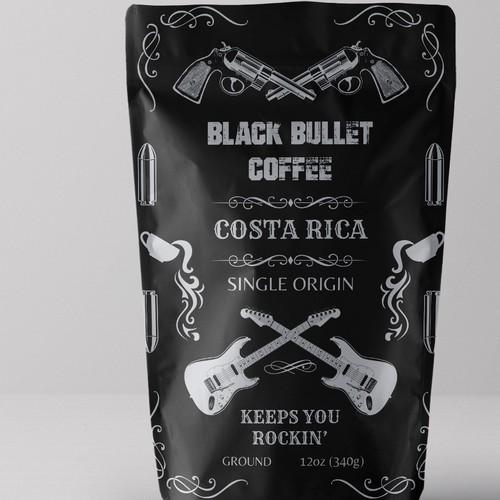 Black Bullet Coffee Packaging Design