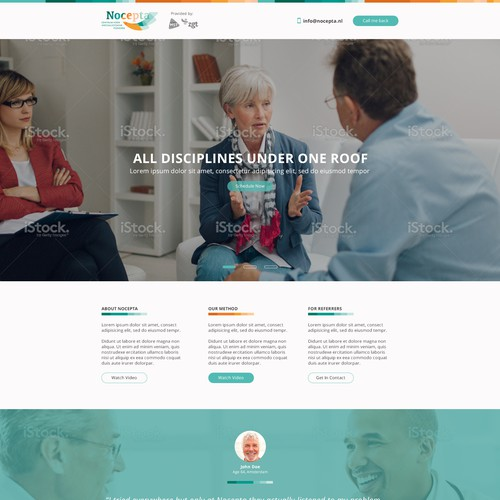 Flat design for medical clinic