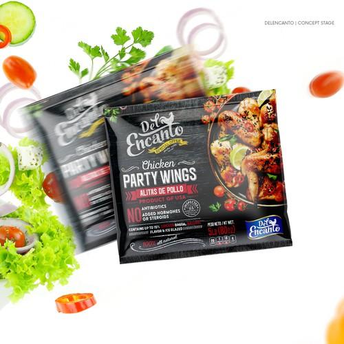 Frozen chicken packaging design