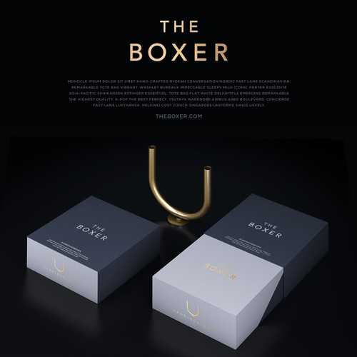 Candleholder Packaging Design for The Boxer
