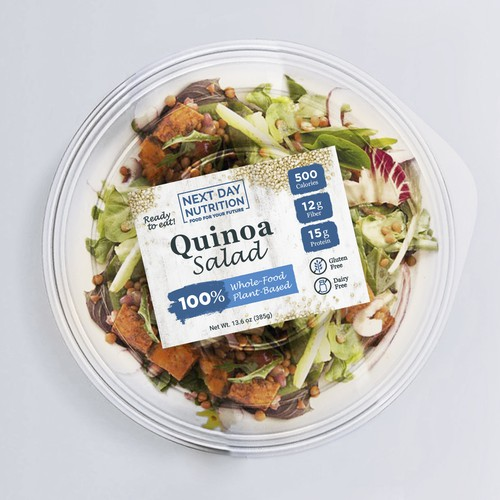 Packaging for healthy Quinoa Salad
