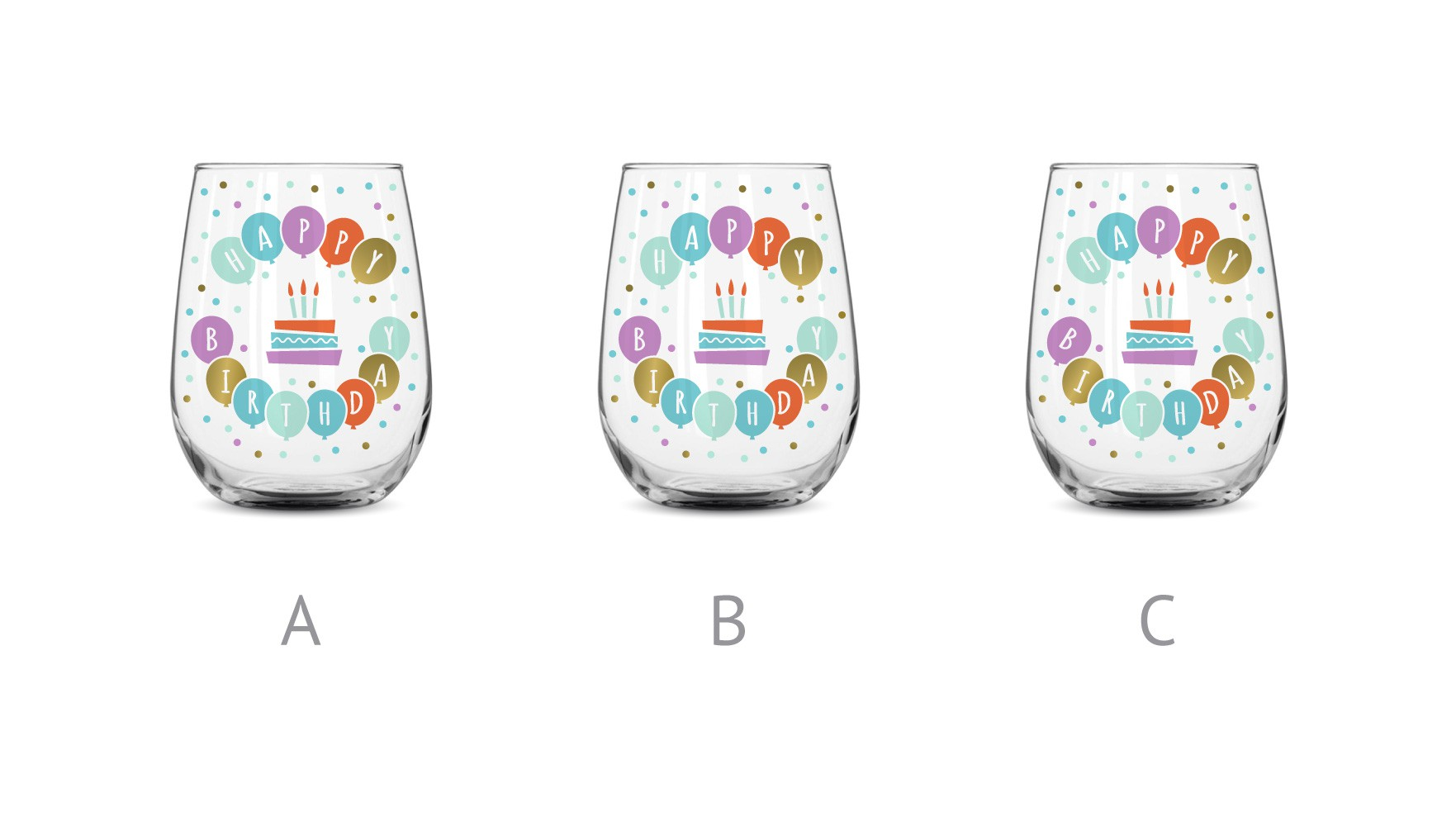 Birthday Glass Print Design
