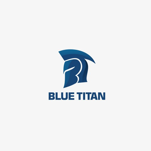 Bold logo design for Blue Titan