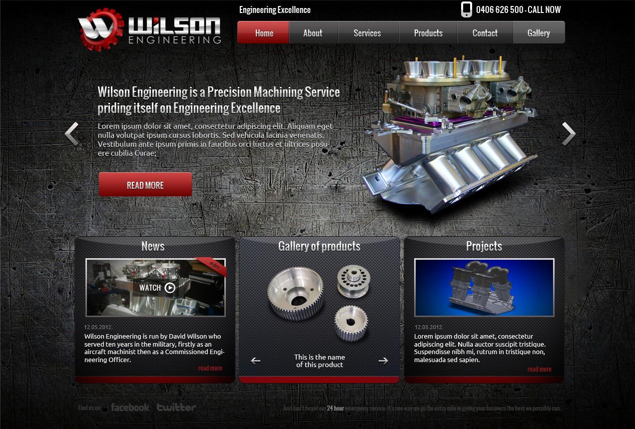 website design for Wilson Engineering