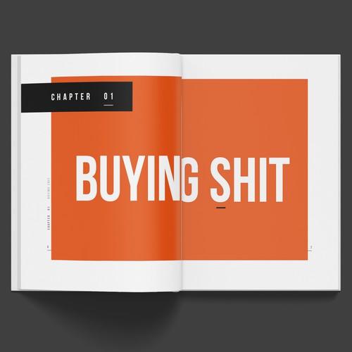 Book layout design.