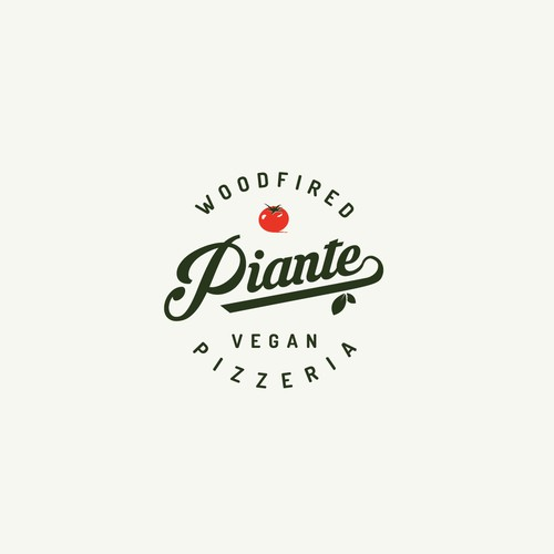 logo design for woodfired vegan pizzeria