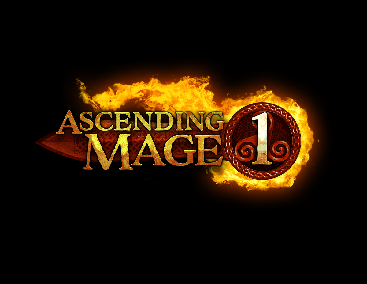 """Series Logo for """"Ascending Mage"""" book series"""