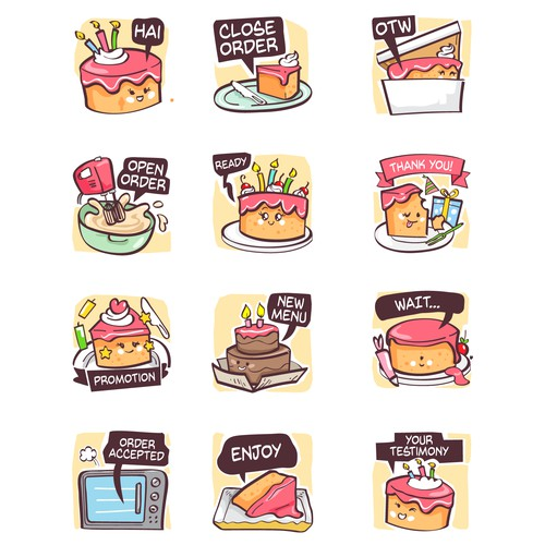 Stiker Whatsapp Cake