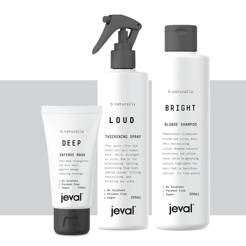 Leading Hair Styling product range needs new minimal style packaging
