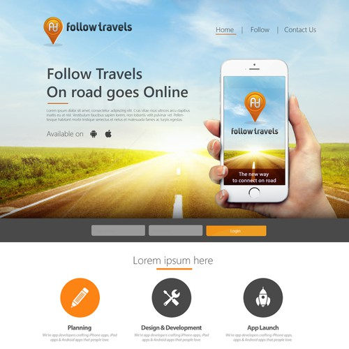 Landing Page and App