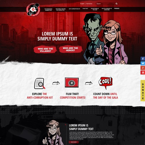 Website design for Anti Corruption project