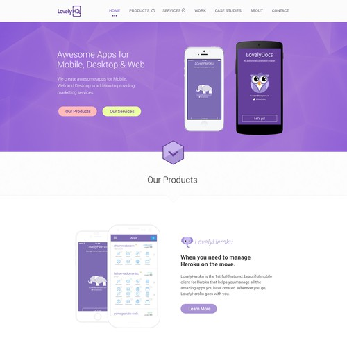 Create a stunning website for a dev & marketing company