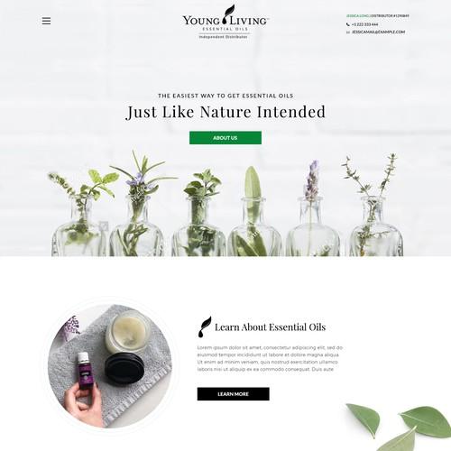 Essential oil website