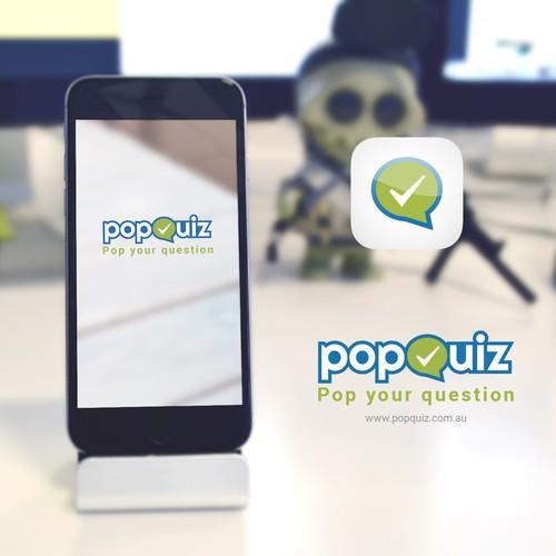 Popquiz: Logo, App icon and App design