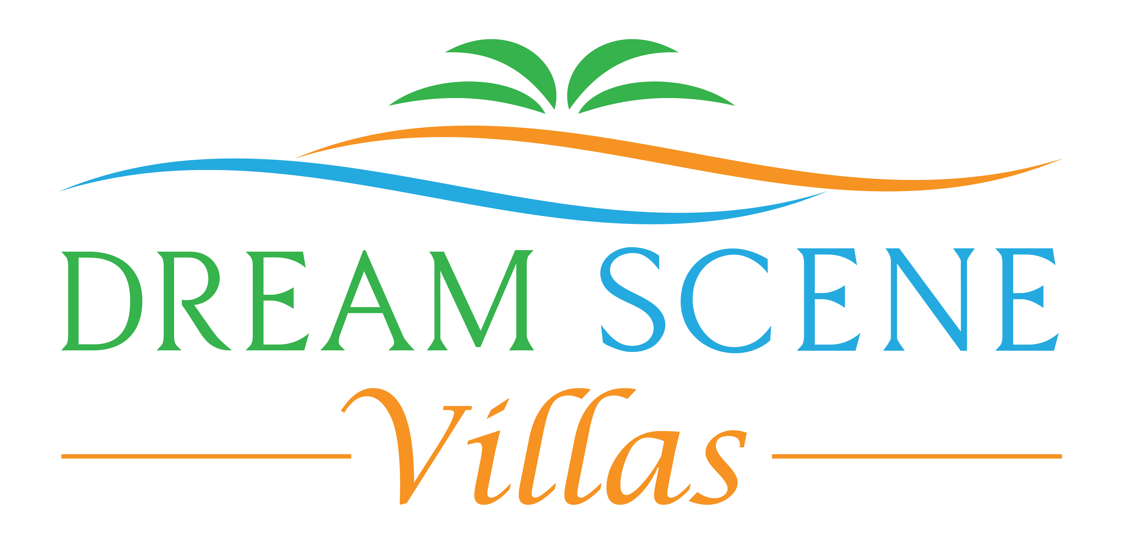 A logo for our vacation home rental - a dreamy tropical Caribbean vacation in Riviera Maya