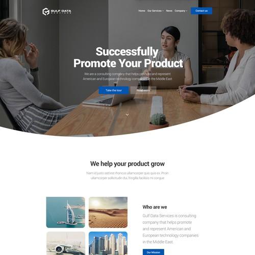 Gulf Data Website Design
