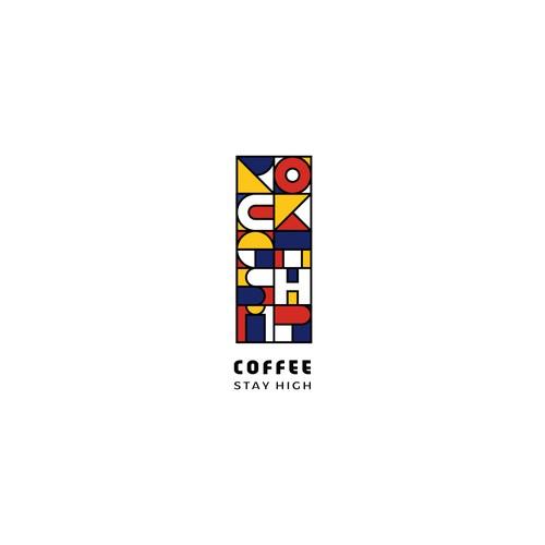 Logo concept for rocketship coffe