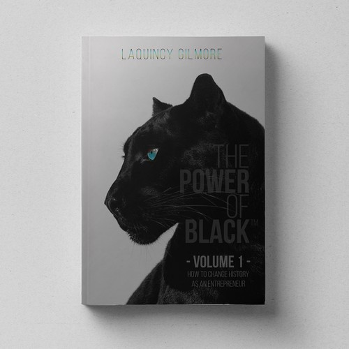 Book Cover Design for 'The Power of Black - Volume 1 How to Change History as an Entrepreneur'