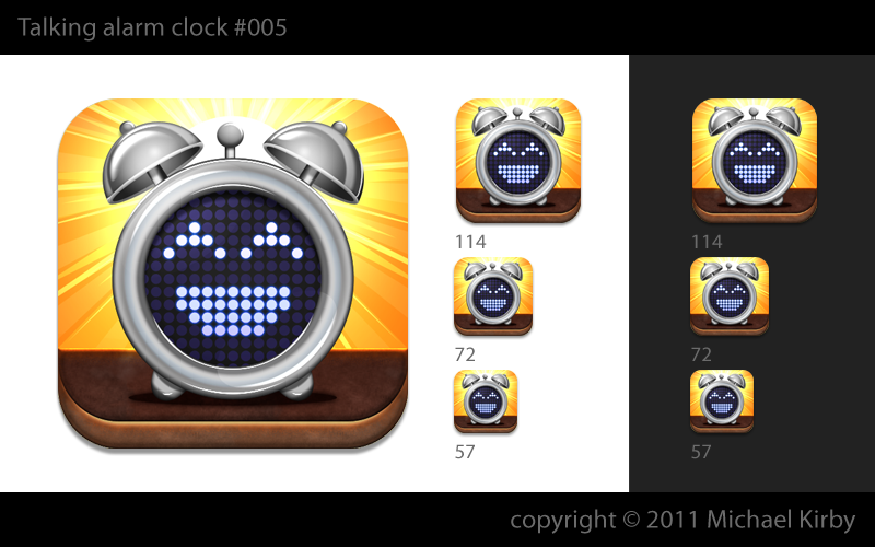 Need a cool iPhone app icon for talking alarm clock