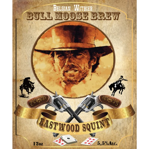 Create the next product label for Bull Moose Brew