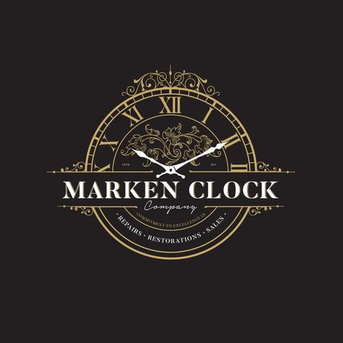 Concept logo clock company