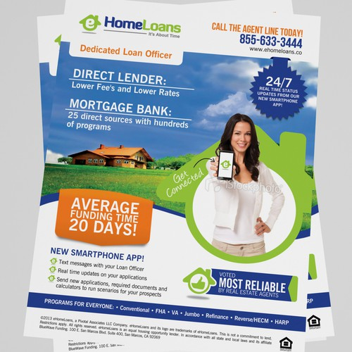 Help eHomeLoans with a new postcard or flyer