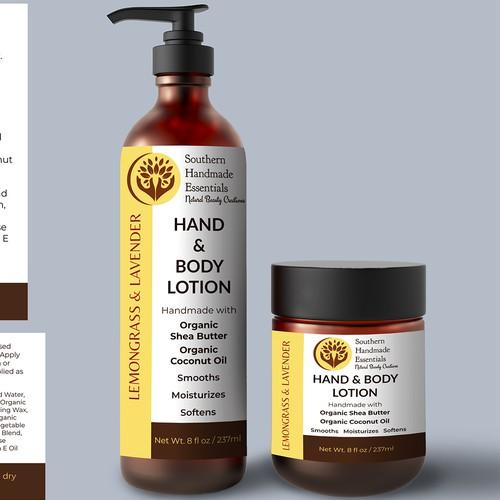 Lemongrass & Lavender Lotion Labels