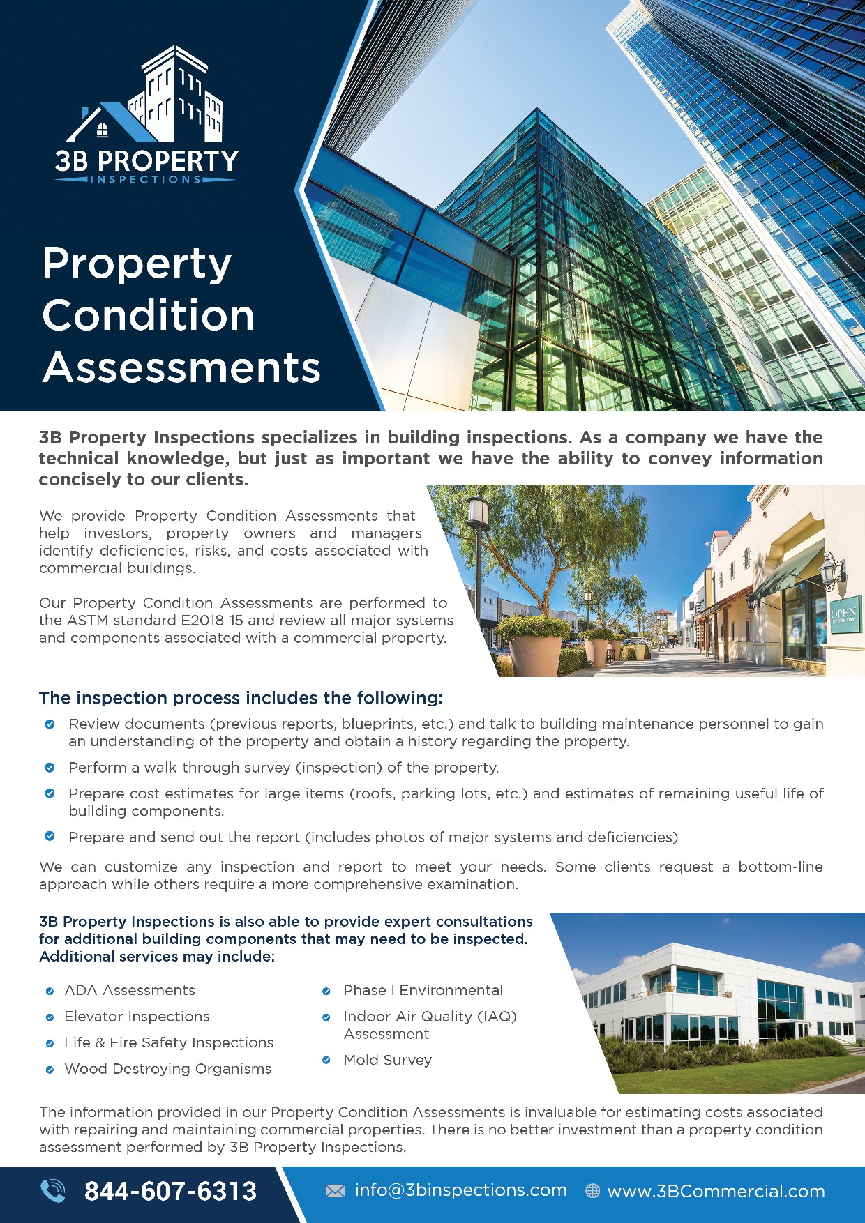 Need a modern 1-Pg Flyer For Commercial Inspection Company