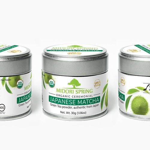 Matcha Green Tea - label