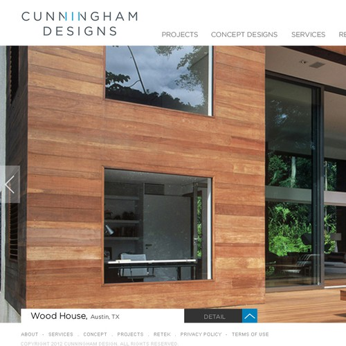 Create the next website design for Cunningham Designs