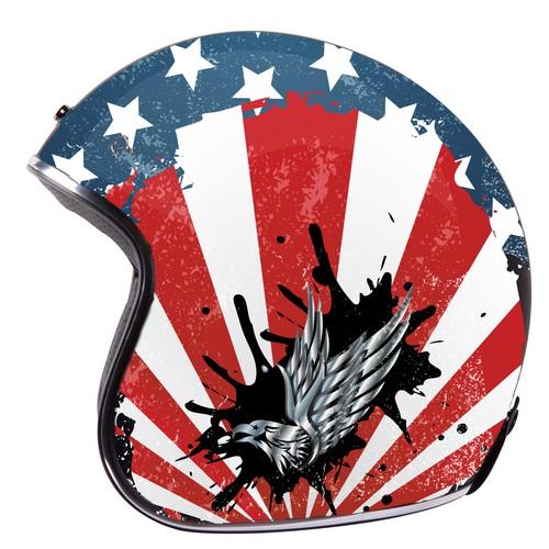 Helmet concept design for american eagle chopper