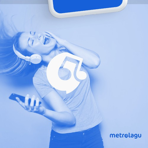 Design a logo for metrolagu.online