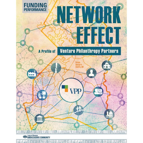 Engaging cover design with network map