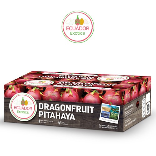 Packaging design for Ecuador Exotics Dragon Fruit