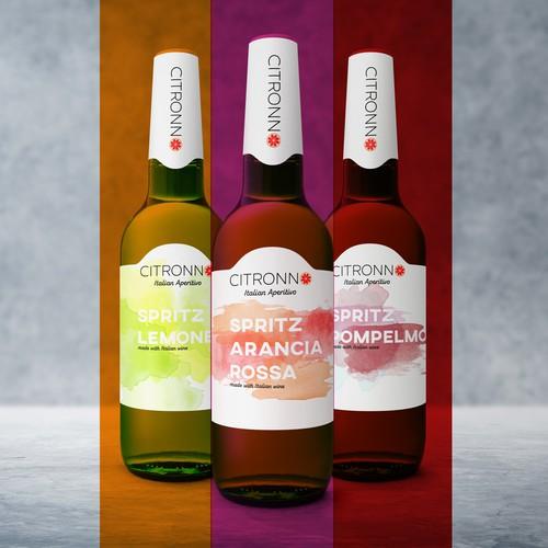 Italian spritz label design