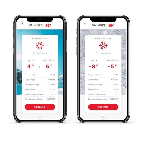 Mobile version for a French ski resort
