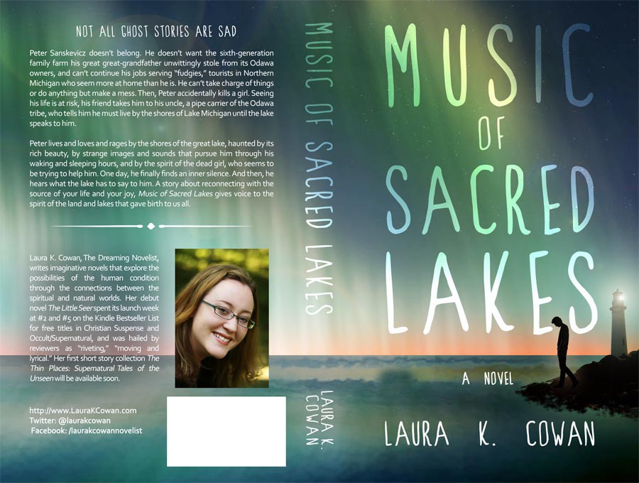 Create a Book Cover for Music of Sacred Lakes, a Literary Supernatural Novel by Laura K. Cowan