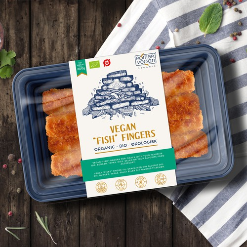 "Label design for Vegan ""Fish"" Fingers"