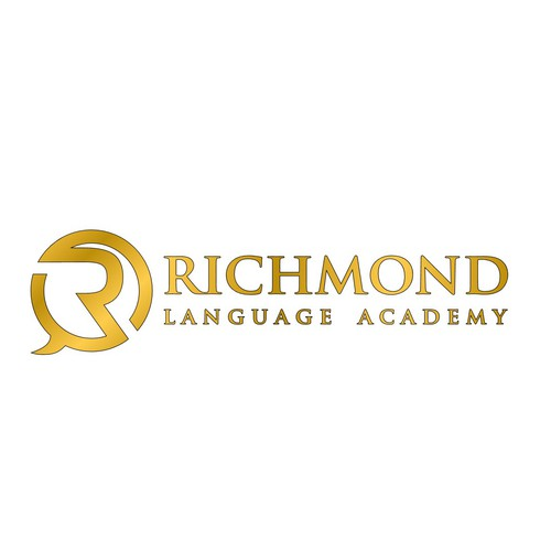 Create a eye-catching English school logo for Richmond Language Academy