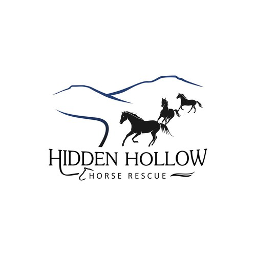 Logo design for Hidden Hollow Horse Rescue