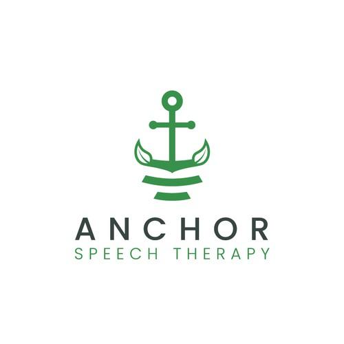 Anchor speech therapy logo concept
