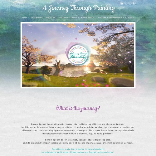 A Journey Through Painting website design