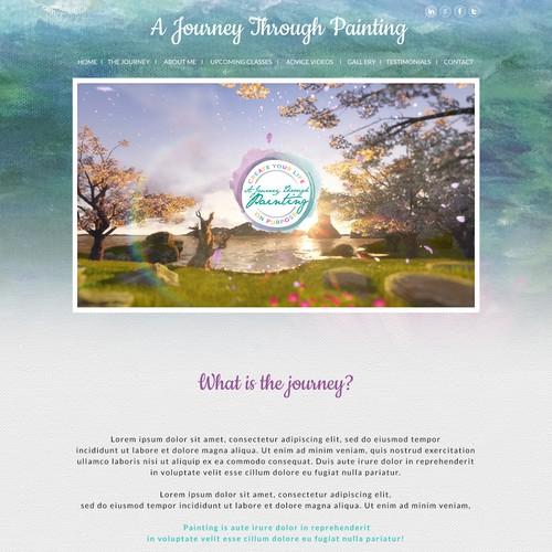 A Journey Through Painting website design